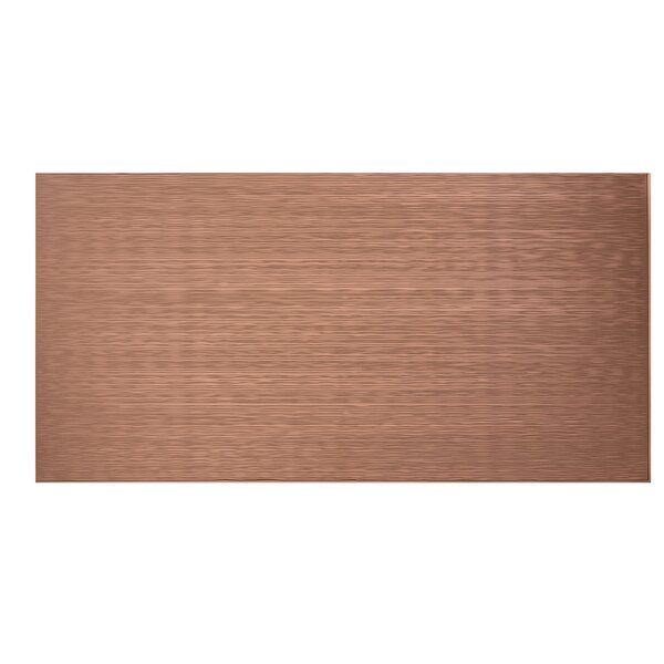Ripple Horizontal 48 x 96 PVC Backsplash Panel in Argent Copper by Fasade