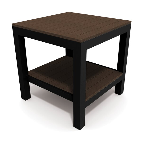 Echo Textured Pewter Side Table by Winston