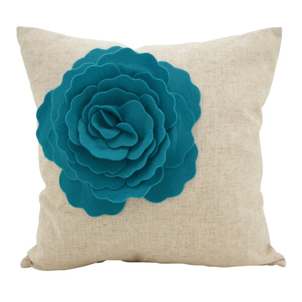 Keech Lotus Flower Statement Cotton Throw Pillow by Charlton Home