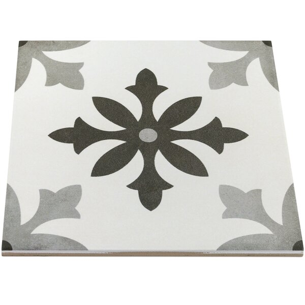 Anabella 9 x 9 Porcelain Field Tile in Picasso Blanco by Splashback Tile