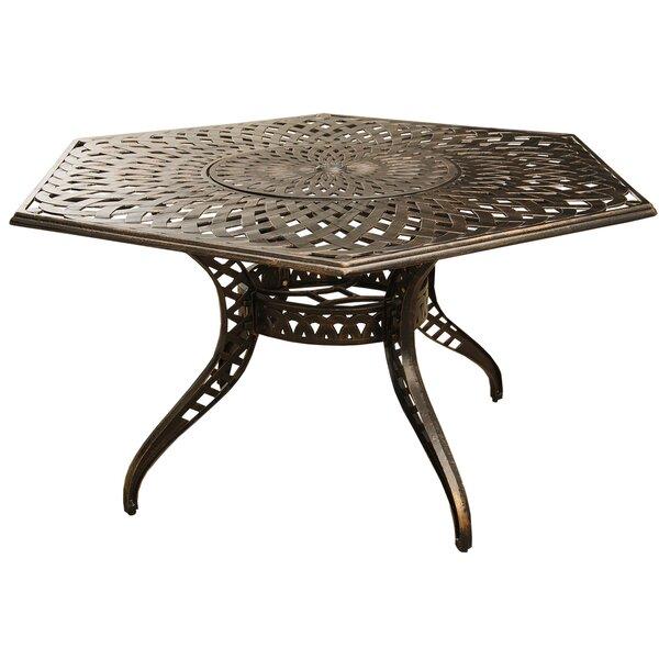 Cashion Mesh Lattice Dining Table by Fleur De Lis Living