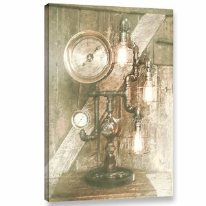 'Steampunk Lamp'  Painting Print On Wrapped Canvas by Williston Forge