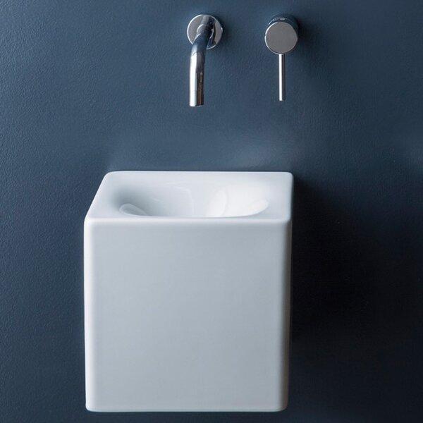 Cube Ceramic 10 Wall Mount Bathroom Sink by Scarabeo by Nameeks