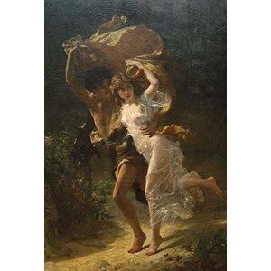 'The Storm' by Pierre Auguste Cot Painting Print by Buyenlarge