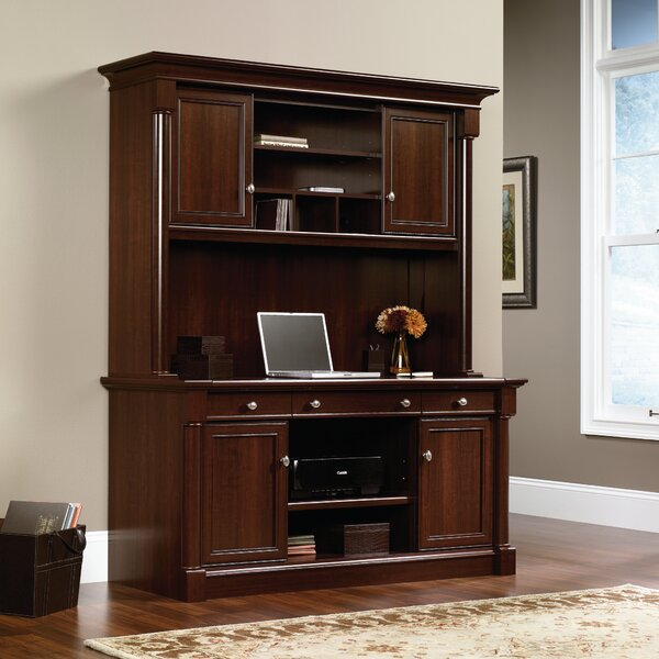 Millwright Credenza Desk with Hutch by Beachcrest Home