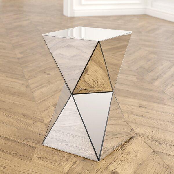 Conrad Mirrored Accent End Table by Willa Arlo Interiors