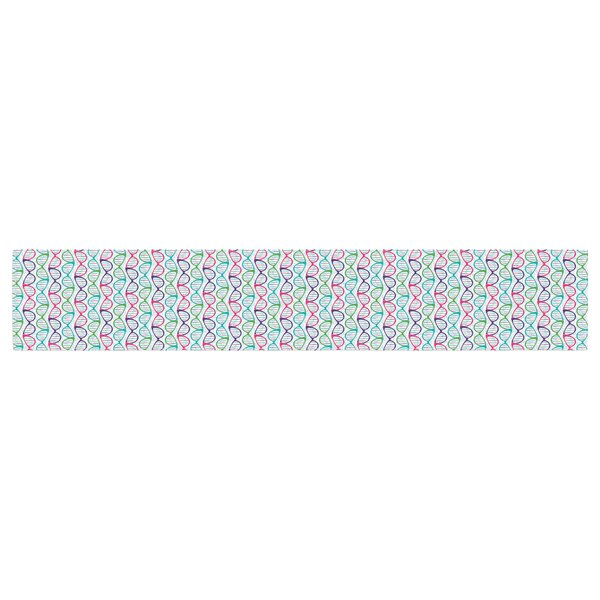 Holly Helgeson Geeky DNA Table Runner by East Urban Home