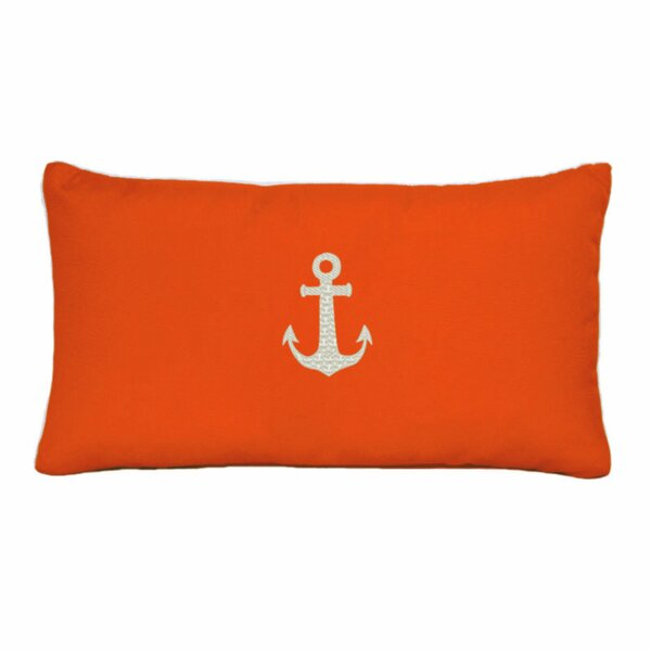 Morado Anchor Beach Outdoor Sunbrella Lumbar Pillow by Beachcrest Home