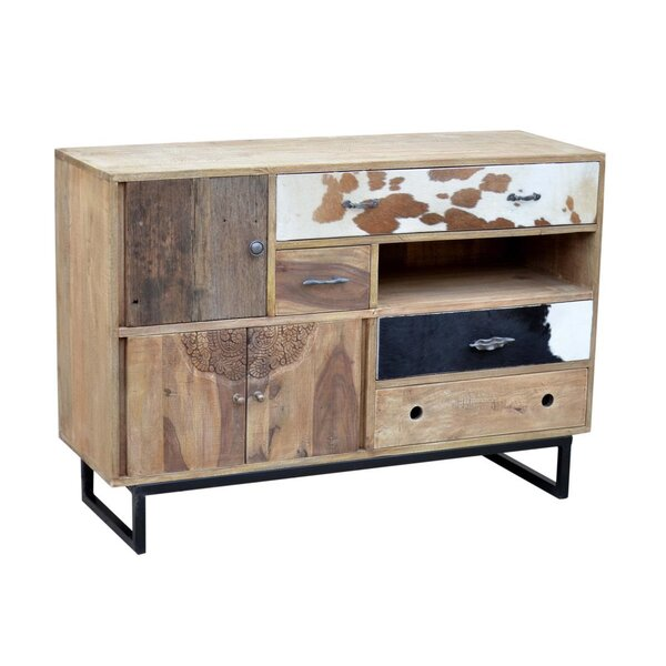 Rustic Mango Wood Chest Storage Accent Cabinet by NACH