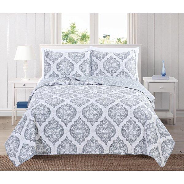 Arabesque Reversible Quilt Set by Home Fashion Designs