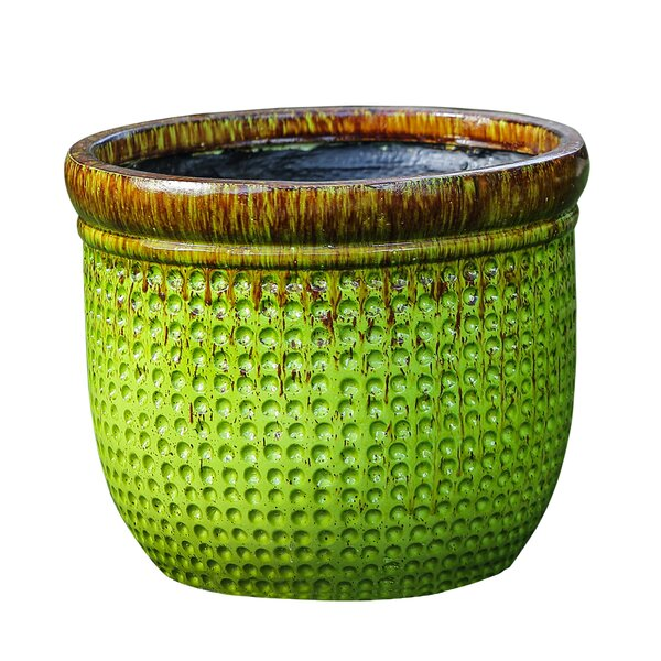 Weaved Fiberclay Pot Planter by Winsome House