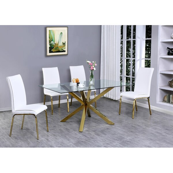 Vogt 5 Piece Extendable Dining Set by Mercer41