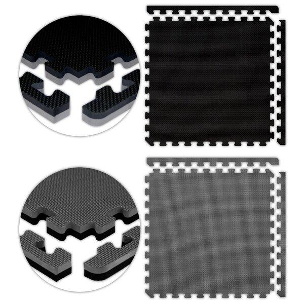 Jumbo Reversible SoftFloors Set in Black / Grey by Alessco Inc.