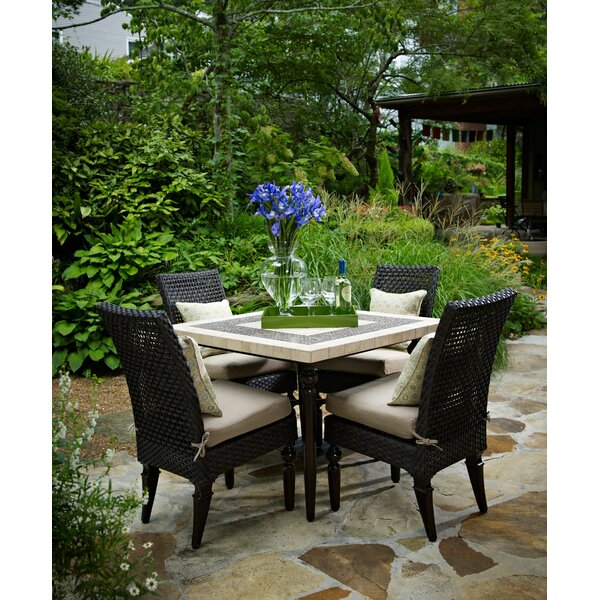 Somerby 5 Piece Dining Set with Sunbrella Cushions by Peak Season Inc.