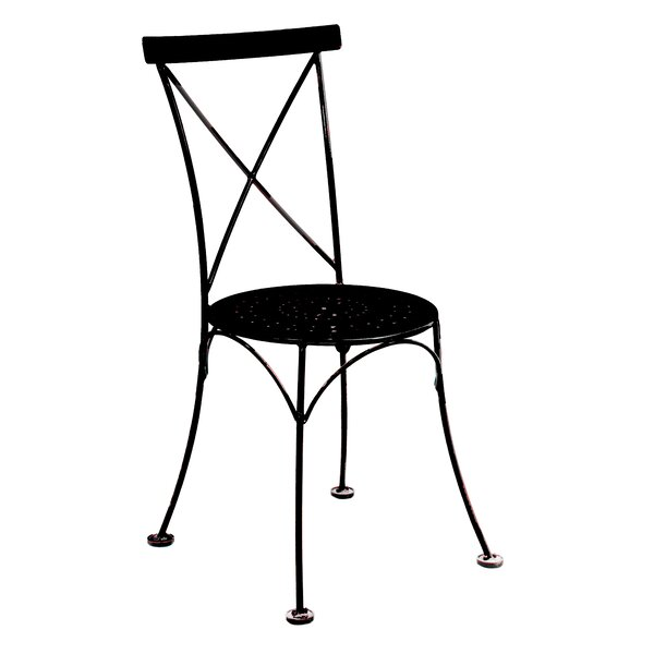 French Cafe Bistro Stacking Patio Dining Chair (Set of 2) by Furniture Designhouse