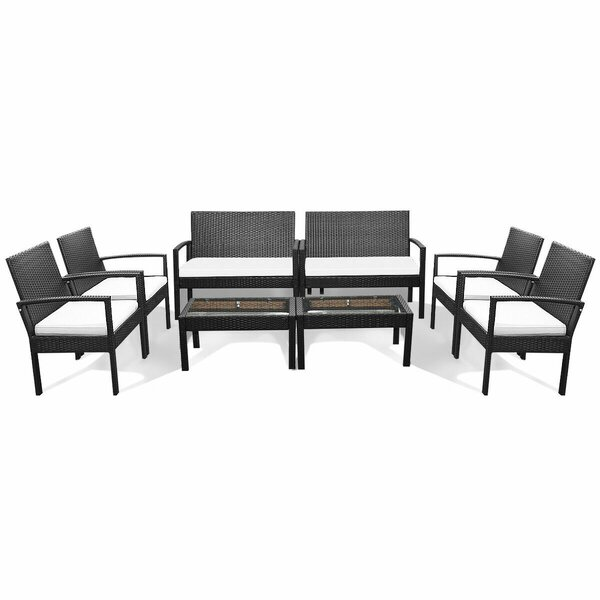 Penermon 8 Piece Rattan Sofa Seating Group with Cushions by Latitude Run