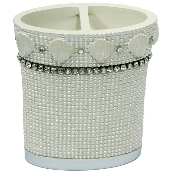 Shells & Diamonds Toothbrush Holder by Sweet Home Collection
