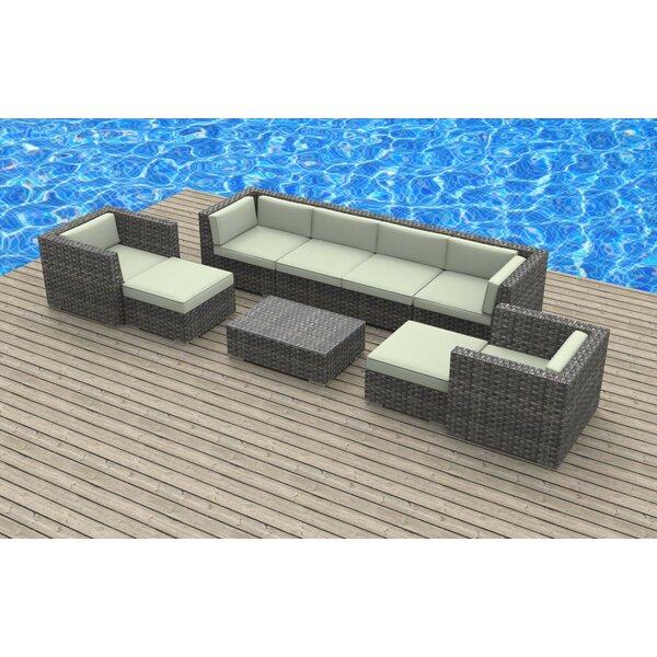 Karla 9 Piece Sectional Set with Cushions Brayden Studio BRAY6291