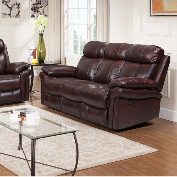 Our Recommended Asbury Leather Reclining Sofa by Red Barrel Studio by Red Barrel Studio