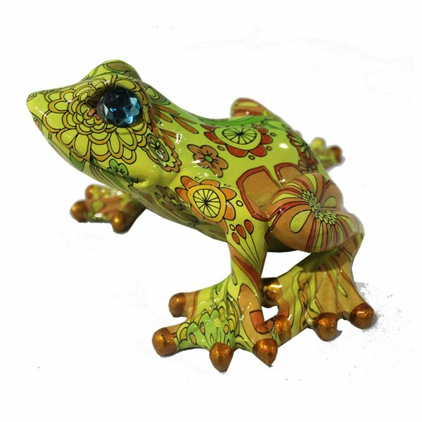 Cozad Eye-Catching Polyresin Frog Figurine by World Menagerie