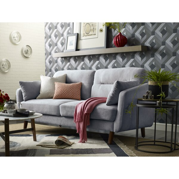 Chloe Mid-Century Modern Loveseat By Elle Decor Great price