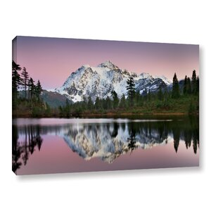 'Mount Shukan Reflection II' by Alan Majchrowicz Photographic Print on Wrapped Canvas by Red Barrel Studio