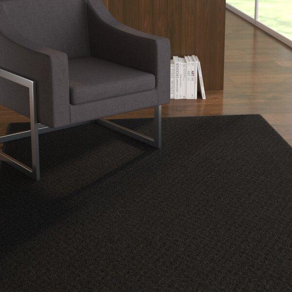 Belgica Black Area Rug by Ebern Designs