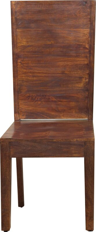 Palindrome Flat Back Solid Wood Dining Chair