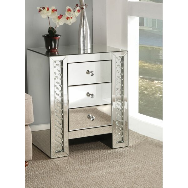 Waite Rectangular 3 Drawer Nightstand by House of Hampton