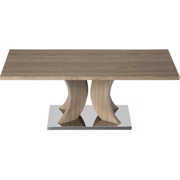 Leverett Pedestal Coffee Table By Union Rustic