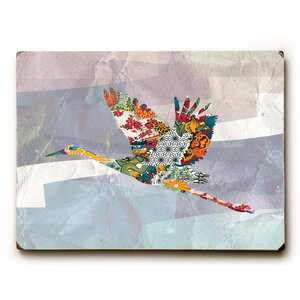 'In Flight' Rectangle Graphic Art Print on Wood by Bungalow Rose
