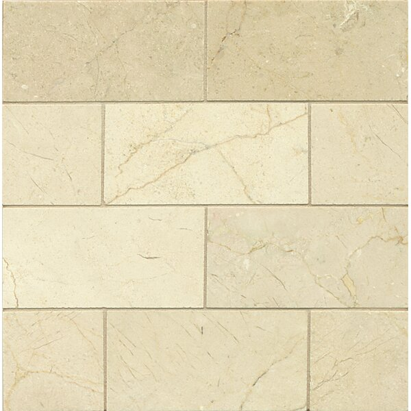 3 x 6 Marble Mosaic Tile in Crema Marfil Select by Grayson Martin