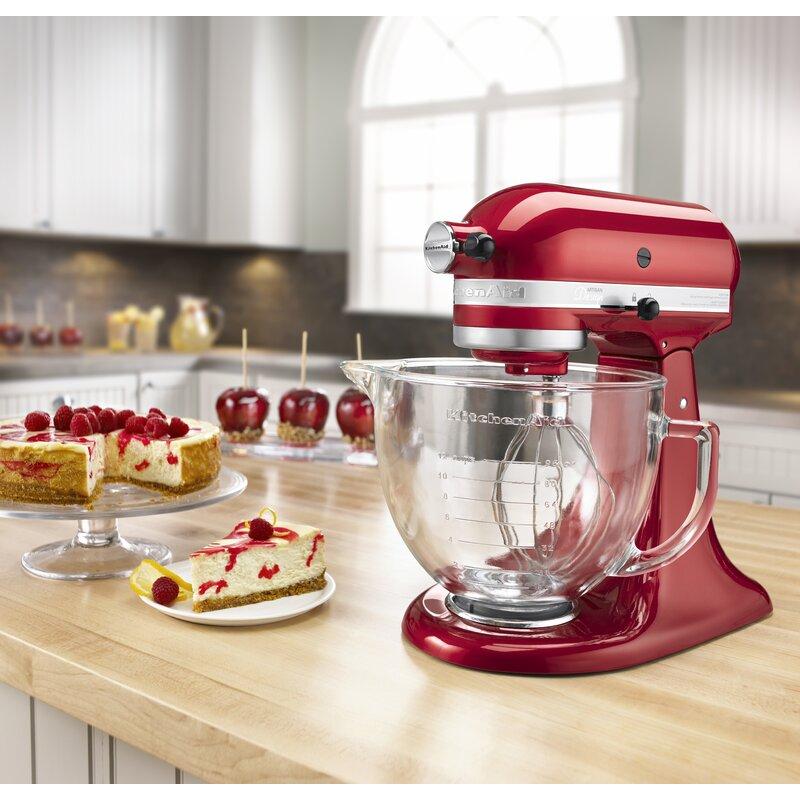 Kitchenaid Artisan Design Series 5 Qt Stand Mixer With Glass Bowl