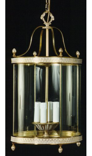 Gosnells 4-Light Lantern Pendant Rosalind Wheeler Finish: Dark Flemish