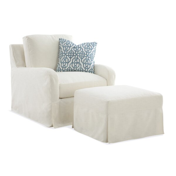 Halsey Box Cushion Armchair Slipcover by Braxton Culler