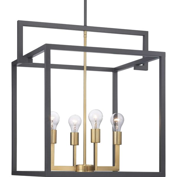 Gaia 4 - Light Lantern Square Chandelier By Mercer41