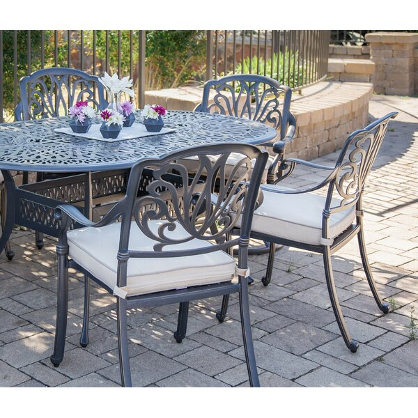 Beaufort Patio Dining Chair with Cushion (Set of 2) by World Menagerie