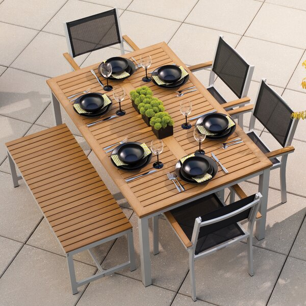 Farmington 6 Piece Teak Dining Set by Latitude Run