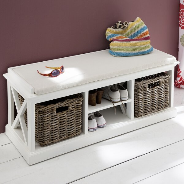 Fairmead Wood Storage Bench by Breakwater Bay