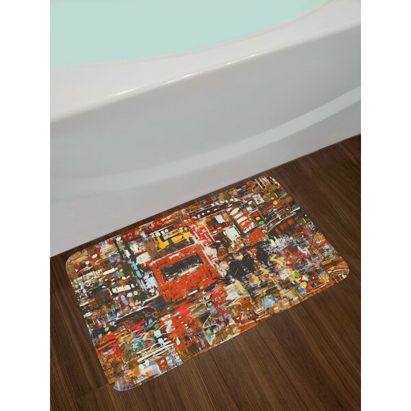 Urban Multicolor Fantasy Bath Rug by East Urban Home