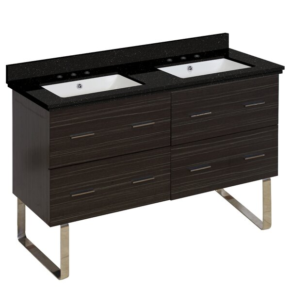 Phoebe 4 Drawers Drilling Floor Mount 48 Double Bathroom Vanity Set by Orren Ellis