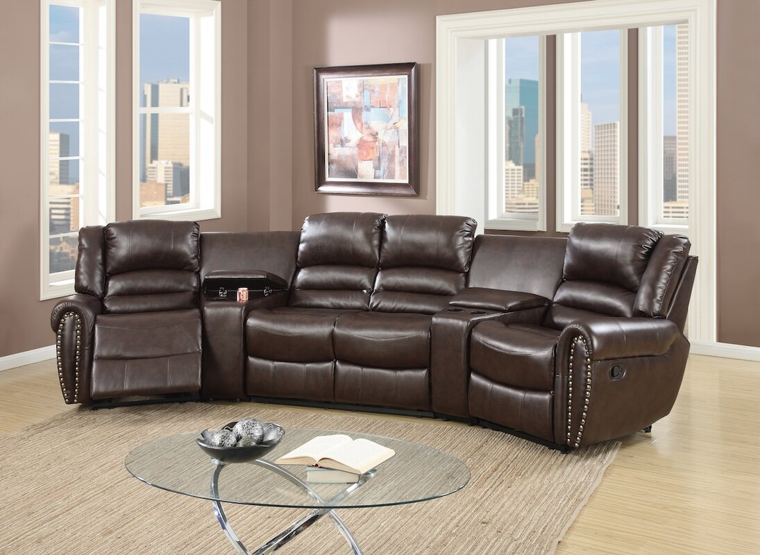Red Barrel Studio Home Theater Sectional Amp Reviews Wayfair