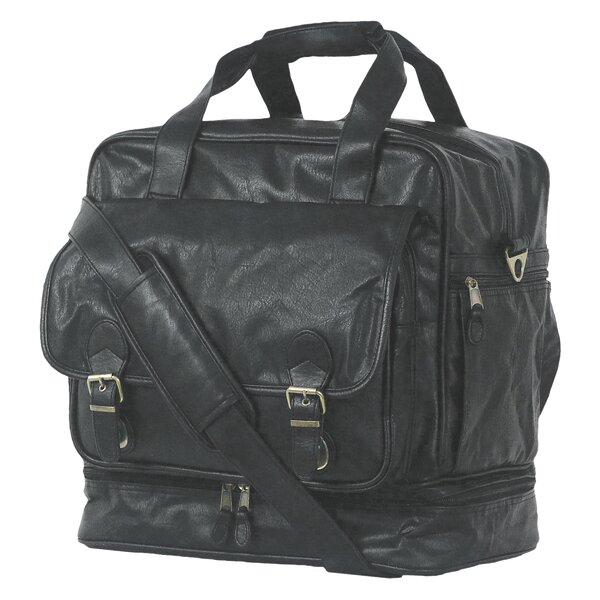 Highland II Series 15 Leather Carry-On Duffel by Mercury Luggage