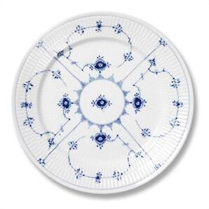 Blue Fluted Plain 6.75 Bread and Butter Plate by Royal Copenhagen