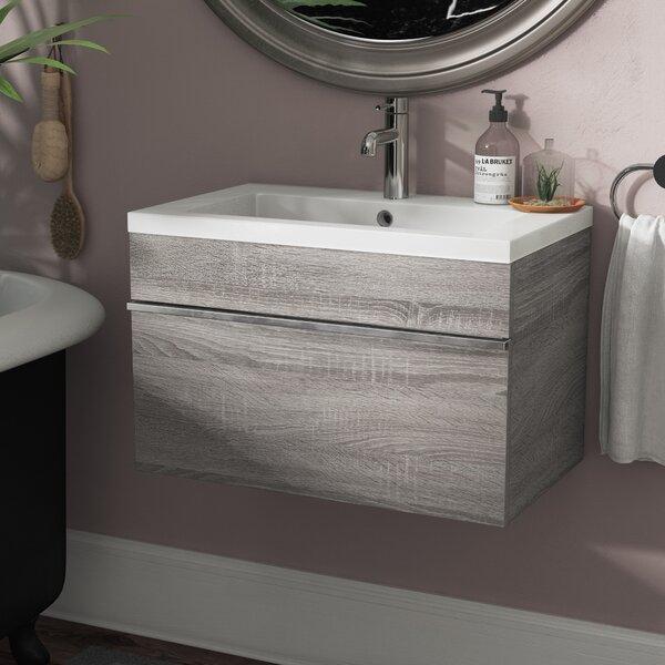 Trough Wall-Mounted Single Bathroom Vanity Set