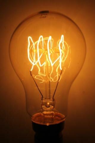 40W Orange E26 Incandescent Edison Standard Light Bulb by HCD USA