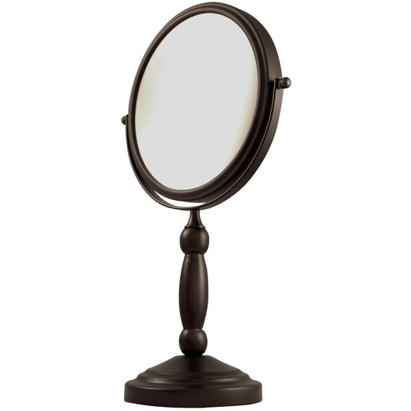 Two Sided 1X/10X Magnification Swivel Mirror by Alcott Hill
