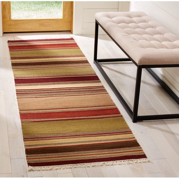 Striped Kilim Hand-Woven Wool Area Rug by Safavieh