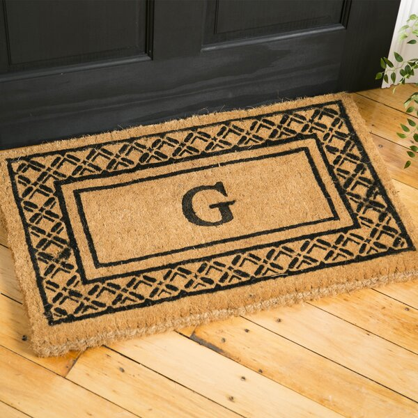 Belamy Monogrammed Welcome Doormat by Birch Lane™