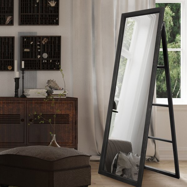 Haleburg Wood Ladder Standing Full Length Mirror by Wrought Studio